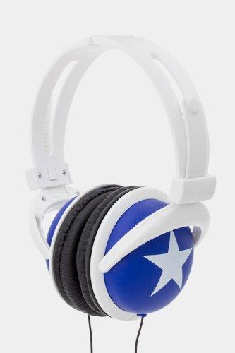 Trendy Fashion Printed Star Headphone By Fashion Destination | (Blue)
