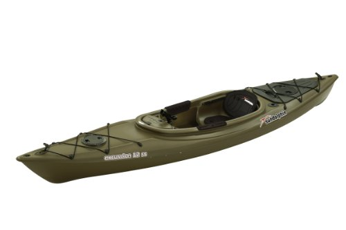 Sun-Dolphin-Excursion-Sit-in-Fishing-Kayak-Olive-12-Feet