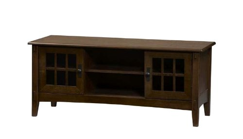 Cheap Linon Mission Brown Flat Panel,Plasma,LCD TV Stand (86197C137-01-KD-U)