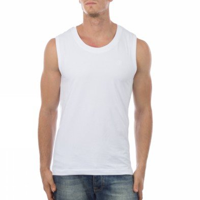 Russell Athletic Tank Top Mens Sleeveless Tee White