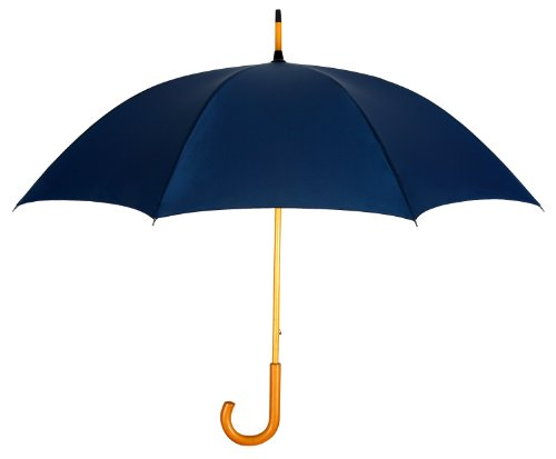 navy-blue-fashion-umbrella-with-genuine-wood-shaft-handle-lifetime-warranty