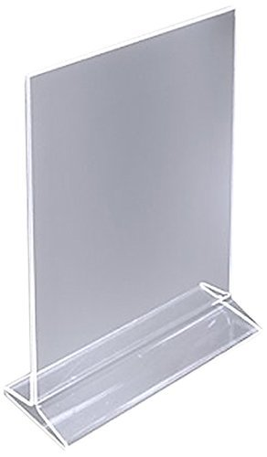 Dazzling Displays Table Card Display/Plastic Upright Menu Ad Frame/Acrylic Sign Holder, 8 1/2 by 11-Inch, 6-Pack (Acrylic Display Holders compare prices)