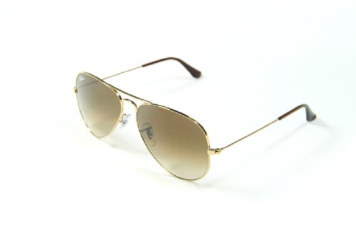 NEW RAY BAN SUNGLASSES AVIATOR RB 3025 001/51 58 GOLD / FADED BROWN