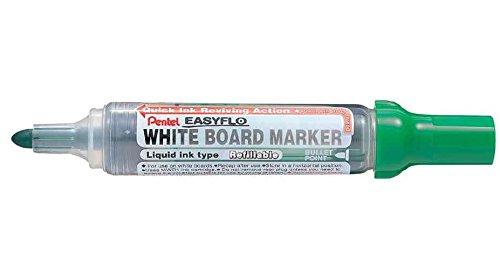 PENTEL Lot de 12 Marqueurs tableau blanc EASYFLO MW50M Pte ogive 2,5 mm Vert