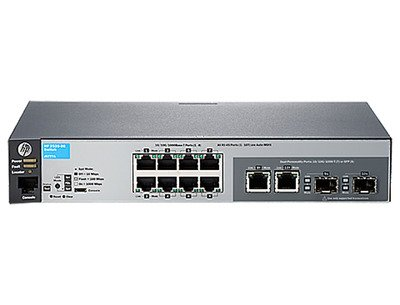 HEWLETT-PACKARD 2530-8G SWITCH 8 Ports - Manageable - 8 x RJ-45 - Rack-mountable, Wall Mountable, Desktop / J9777A#ABA / by HP