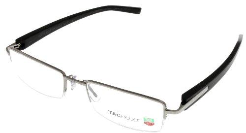 Tag Heuer Eyeglasses Frame Unisex Black Th8203 004 Semi- Rimless