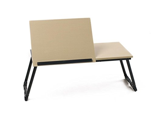 Foldable And Adjustable Design Table For Laptops,Pads And Reading,Beech Color