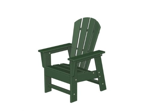 Recycled Earth-Friendly Venice Beach Outdoor Kid's Adirondack Chair Forest Green