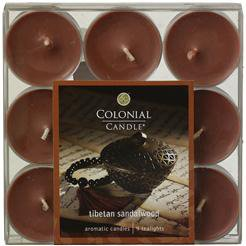Colonial Candle Tibetan Sandalwood Scented Tealight Candles