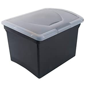 Sterilite 1878 Black File Box