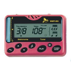 Compact Metronome / Tuner with Real Voice Count, Pink