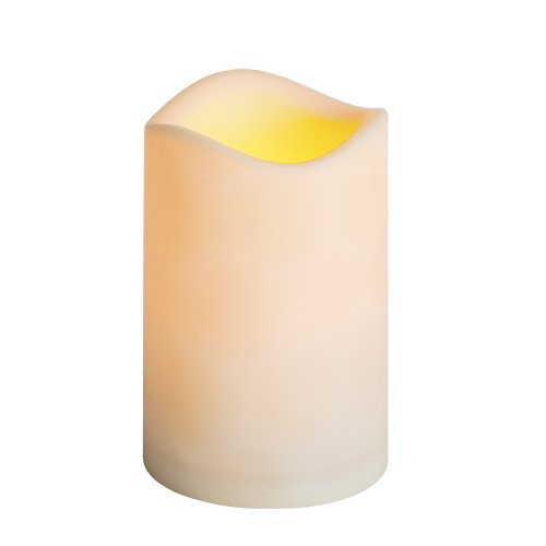 Everlasting Glow LED Indoor/Outdoor Resin Candle, Timer Feature, 3″ x 4″