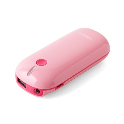 cheero Grip2 5200mAh マルチデバイス対応モバイルバッテリー (ピーチ)