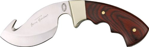 Frost Big Buck Slammer Fixed Blade Knife, 3.75In, Guthook Blade, Brown Pakkawood Handle 15480W