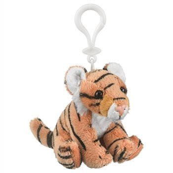 Plush Tiger Stuffed Animal Backpack Clip Toy Keychain WildLife