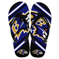 BALTIMORE RAVENS 2013 UNISEX BIG LOGO FLIP FLOP (Small) at Amazon.com