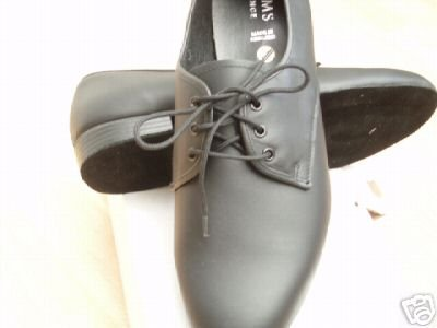 mens ballroom dance shoes black leather size 11.5 wide fit
