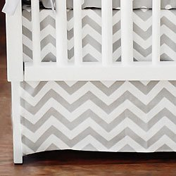 Zig Zag Baby Crib Skirt By Arrivals by J.P. Bedding