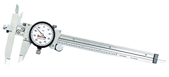 "Starrett 120JZ-6 Dial Caliper, Stainless Steel, Offset Jaw, White Face, 0-6"" Range, +/-0.001"" Accuracy, 0.001"" Resolution"