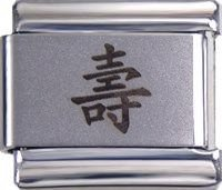 Italian Charms Chinese Character for Life Energy (laser) For Italian Charm Br...