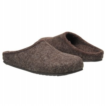 Vionic with Orthaheel Technology Men's Navarre Mule Dark Brown Felted Italian Wool Size 8 Medium