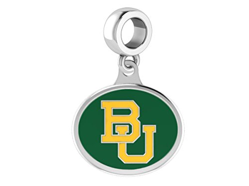 Baylor Bears Drop Charm Fits All European Style Beaded Charm Bracelets
