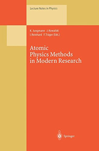 Atomic Physics Methods In Modern Research: Selection Of Papers Dedicated To Gisbert Zu Putlitz On The Occasion Of His 65Th Birthday (Lecture Notes In Physics)