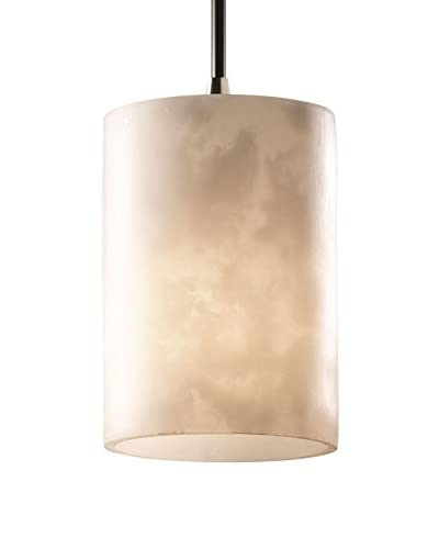 Justice Design Group LumenAria Mini Pendant Light, Brushed Nickel/Alabaster