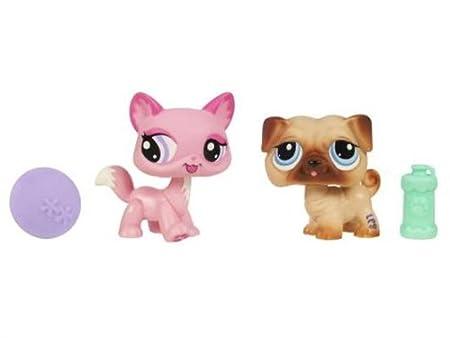 Littlest Petshop - Pet Pairs - 2-Pack - Chien #1312 et Chat rose #1313