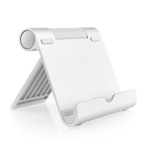 AUKEY Supporto Stativo in Alluminio / Stand da tavolo per Smartphone, Tablet PC di 4-10 pollici come series iPad, ebook-Reader, Samsung Galaxy Tab, ecc.
