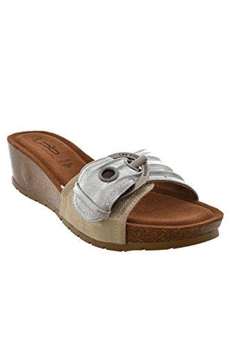 Sandali, nu les p'tites bombes piedi ninfea, colore: grigio, Grigio (grigio), 37