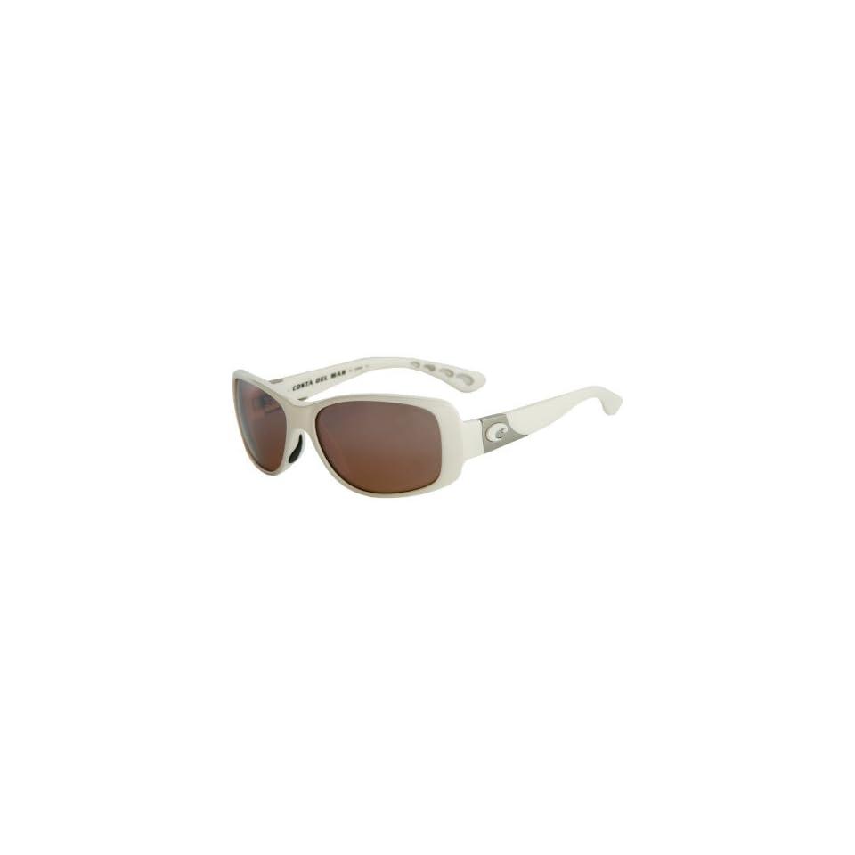 05ad42331e5ef Costa Del Mar Sunglasses Tippet Glass   Frame White Lens Polarized Silver  Mirror Wave 580 Glass