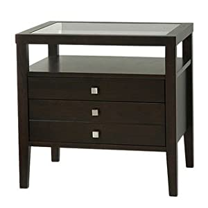 Aristo brown side table this elegant end for Living room end tables with drawers
