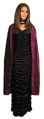 Adult Std Size, Black - Crushed Panne Velvet Cape - Great for Witch Costumes and More