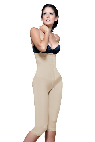 Vedette Womens Capri Girdle with Latex Control Front