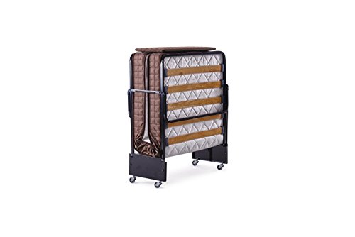 Buy Cheap Casamode Holiday Guest Folding Bed With 5.5 Inch Spring Coil Durable Mattress with Rollawa...