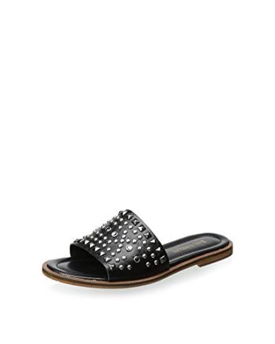 Enzo Angiolini Women's Jaydra Flat Sandal  [Black]