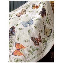 Bucilla 45178 Butterfly Stamped Embroidery Kit, 45-Inch by 45-Inch