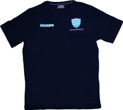 T-shirt Racing Metro 92 - Collection officielle - KAPPA rugby - TOP 14 - Taille adulte Homme