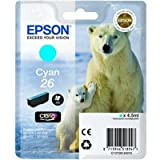 Epson No26 Polar Bear Inkjet Cartridge Cyan C13T26124010