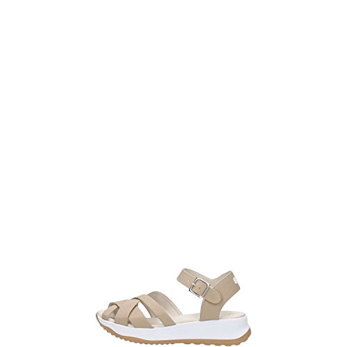 RUCOLINE- SANDALO DONNA IN PELLE BEIGE SS16 (37)