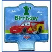 Unique Educational Products - Disney Cars 1st Birthday Candle 1ct - Disney Cars 1st Birthday Candle 1 count.