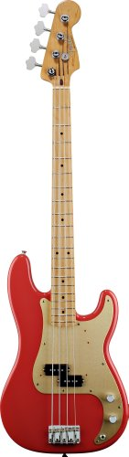 FENDER 50S PRECISION BASS TOUCHE PALISSANDRE FIESTA RED Basse Basse...