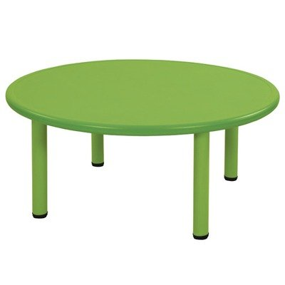 Ecr4Kids Round Plastic Table Color: Green, Leg Height: 20