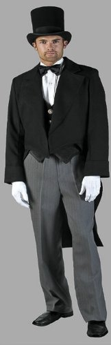 Deluxe Victorian Gentleman Tuxedo Costume- Theatrical Quality (Large)