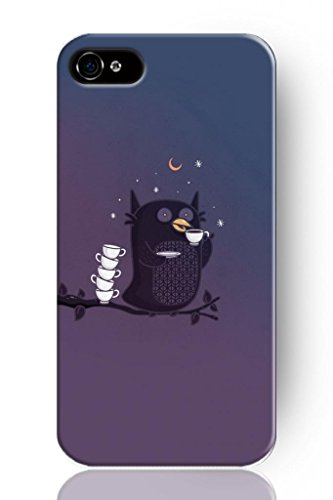 Sprawl Simple Cartoon Series Phone Case Hard Cover For Apple Iphone 6 (5.5) -- Why Owl Don'T Sleep At Night