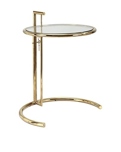 Meelano Side Table, Gold