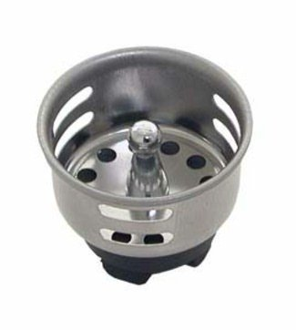 Commercial Kitchen Sink Plugs : ... Top Rated / Three Sink Strainers W/Stopper 1.75