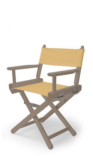 Telescope Casual Child'S Director Chair, Rustic Grey With Curry Canvas Fabric