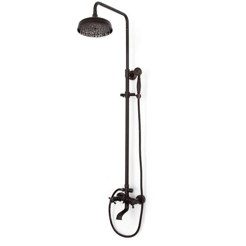 LightInTheBox Oil-rubbed Bronze Wall Mount Waterfall Rain + Handheld Shower Faucet (80 Inch Shower Curtain Liner compare prices)